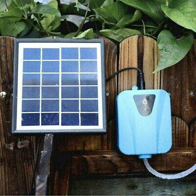 Solar Powered DC Charging Oxygenator Fishing Air Pump Water Pond Aerator Tool