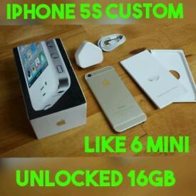 XMAS GIFT APPLE IPHONE 5S CUSTOM 6 MINI HOUSING NO TOUCH ID UNLOCKED