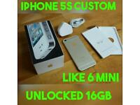 XMAS GIFT APPLE IPHONE 5S CUSTOM 6 MINI HOUSING NO TOUCH ID UNLOCKED