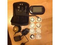 Sony PSP with carrying case and 8 games