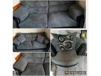SCS 3x seater sofa and swivel love chair
