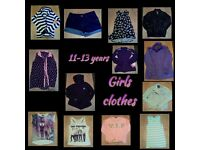 Girls clothes 11-13 yrs