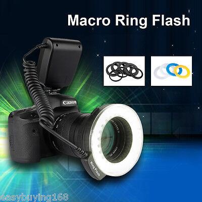 Macro LED Ring Flash Light For Canon Nikon Panasonic Pentax DSLR Digital Camera
