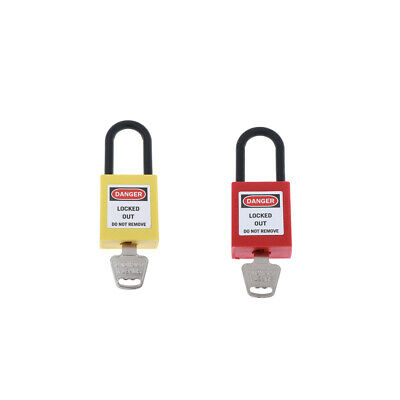 Nylon H:38mm Shackle Safety Lockout Padlock Keyed Alike,Selective 2Color - Keyed Alike Colored Padlocks