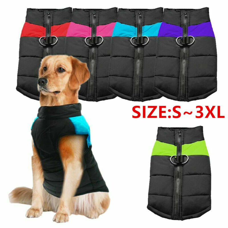 Waterproof Small-Large Pet Dog Clothes Winter Warm Padded Co