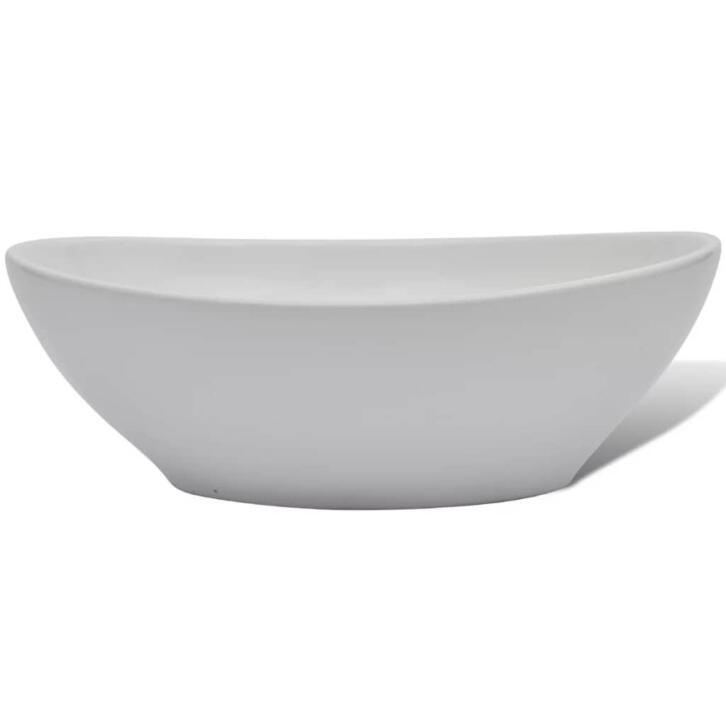 VidaXL Lavabo en forme ovale Céramique 40 x 33 cm Blanc   2dehands.be 8bf83e8d6046