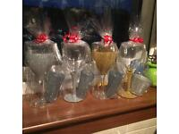 Glass set with candle/ glass. Gift wrapped. Great for teachers gifts