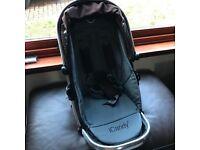 Icandy Peach stroller seat in Black Jack