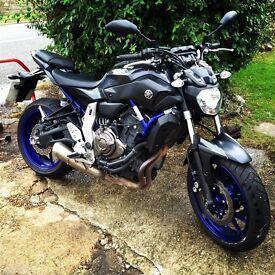 Yamaha mt 07 689cc 2014