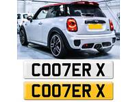 Cooper cherished private number plate