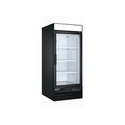 Peakcold Small Glass Door Merchandiser Display Cooler 9.1 Cu Ft Retail Freezer