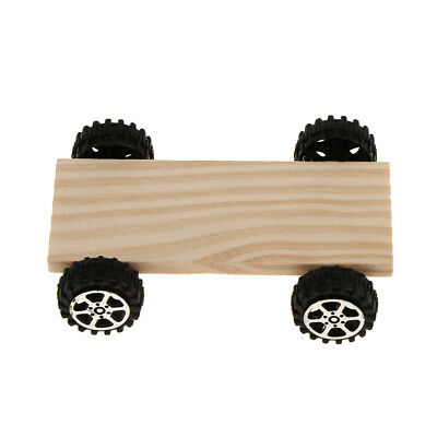 Unfinished Wood Toy Car Assemble Part for Polymer Clay DIY Kids Toys - Wood Crafts For Kids