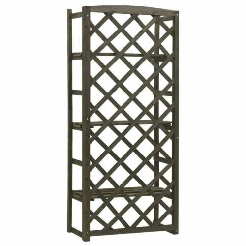 Solid Firwood Garden Trellis Planter with Shelves Outdoor Baskets Window Boxes