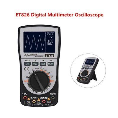 2in1 Et826 Intelligent Digital Oscilloscope Multimeter Auto Range Current Tester