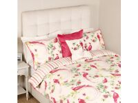 LAURA ASHLEY BNWT RRP £130 Super King Size Harewood Pink Grapefruit Duvet 2 Pillows VINTAGE COUNTRY