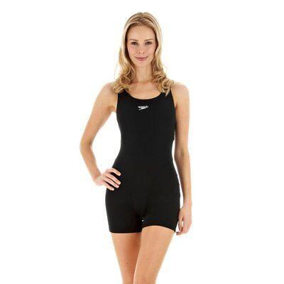 44da157266 Speedo Adult Black 1 Piece Endurance Long Swimsuit Women New Swim Size 14 /  36