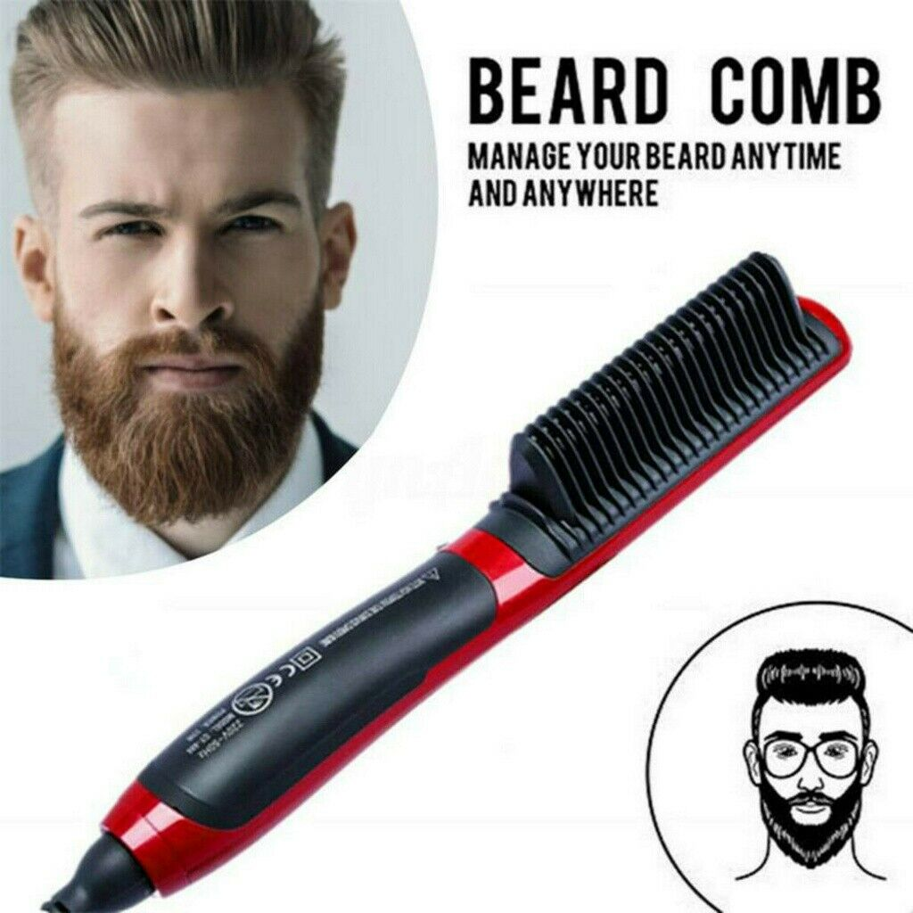 Haarglätter Bürste Männer Schnelle Bartglätter Elektrisch Beard Haarkamm Curler