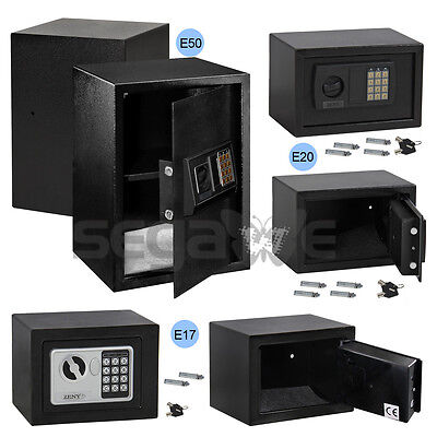 Digital Electronic Safe Box Keypad Lock Home Hotel Office Gun New Black