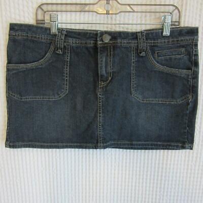 Earl Jean 100% Cotton Mini Denim Jean Skirt GREAT over Leggings! sz 15