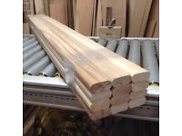 Garden bench seat slats for cast iron bench ends-12 European Oak Hardwood planed & Moulded edges.