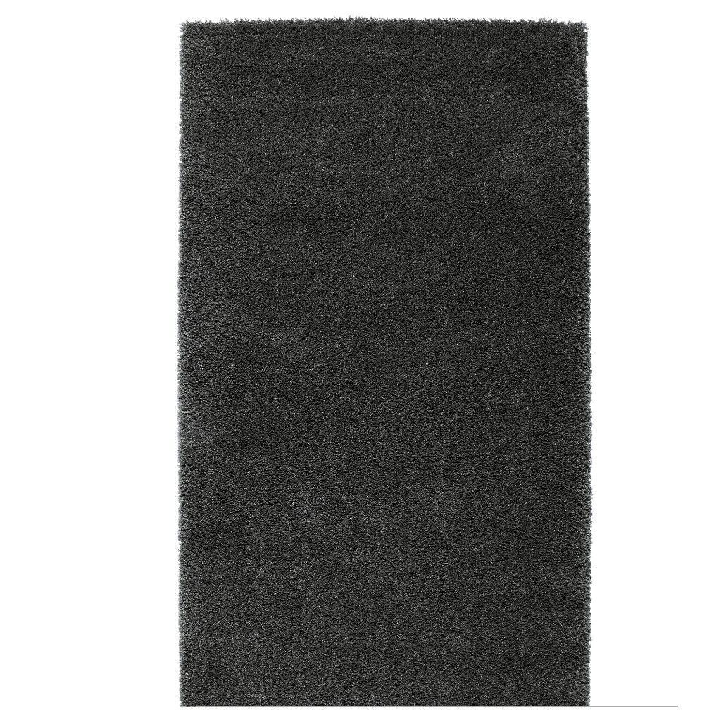 IKEA ADUM Dark Grey High Pile Rug