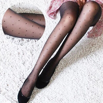 Women's Polka Dot Pattern Silk Stockings Wave Point Tights Pantyhose Sexy Socks