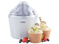 VonShef Ice Cream Maker, Sorbet & Frozen Yoghurt Machine. 1.5Ltr. Brand new in box. Amazon price £25
