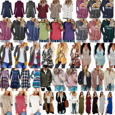 Winter Dresses On Sale (ON SALE!! Lots Women Winter Fall Long Sleeve Dress Blouse Tunic Tops)