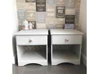 Pair of shabby chic bedside cabinets