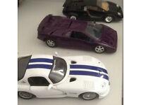 three model cars 2 Lamborghinis and a Dodge Viper GT2
