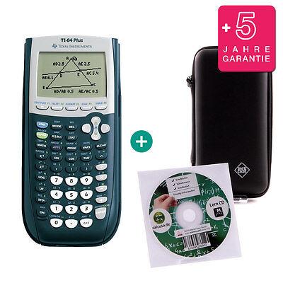 TI 84 Plus Taschenrechner Grafikrechner + Schutztasche Lern-CD Garantie ()