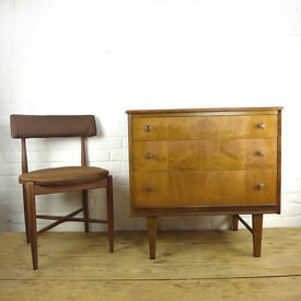 Mid Century Teak Chest of Drawers 1960s *DELIVERY AVIALABLE* Danish/G Plan Era Retro