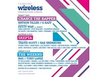 2X Friday Wireless Festival Tickets and train