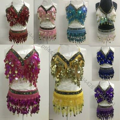 New Women Belly Dance Costume Halloween Set Belly Dance Clothes Bead - Halloween Dance Clothes
