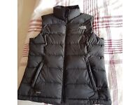 Black North face gillet, good clean conditionn