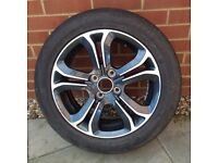 PEUGEOT ALLOY WHEEL AND 195/55/R15 GOODYEAR TYRE IDEAL SPARE OR REPLACEMENT