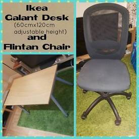 Ikea Galant table & Flintan black chair