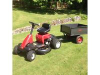 Lawn King Ride On Mulching/Side Discharge Mower And Tipping Trailer