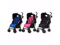 OBaby Zeal Push Chair in BLACK and PINK