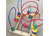 Beads maze toy