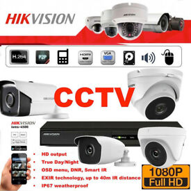 Full HD 1080p Hikvision CCTV Security Camera Installation. Includes Fitting & Mobile Phone Viewing