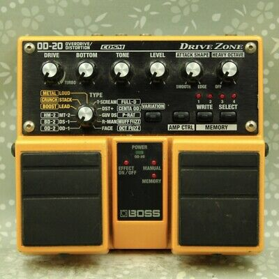 BOSS OD-20 DRIVE ZONE Overdrive / Distortion Guitar effect pedal (ZQ38951)