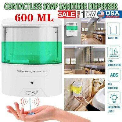 Automatic Liquid Soap Dispenser 600ml Handfree Touchless Ir Sensor Wall Mount