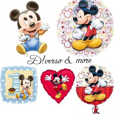 XL Mickey Baby Mouse Maus Luftballons Folienballons  1 Geburtstag Helium Glitzer
