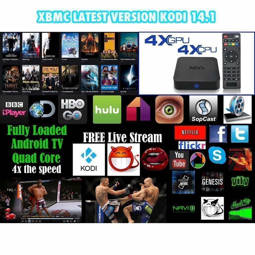 Android SMART TV box MXQ 8GB Full HD  Netflix XBMC