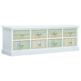 TV Cabinet with Drawers White 120x30x40 cm MDF-285761