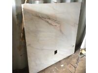Marble back plate and matching hearth,(very heavy)£95.00