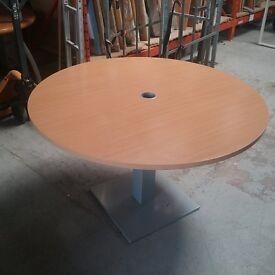 Circular beech table