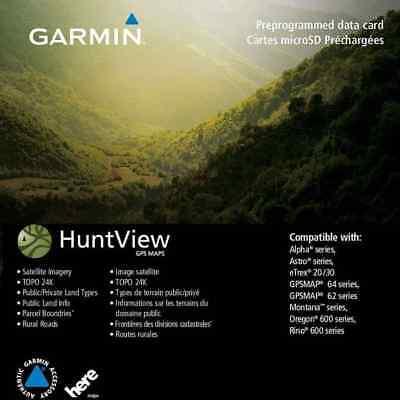 Garmin WEST VIRGINIA HuntView Map SD Card 24K TOPO Birdseye Landowner Hunt View