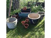 Garden Pots (3 very large) - selection